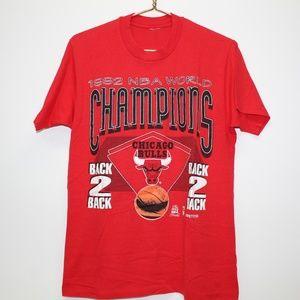 Vintage 1992 Chicago Bulls NBA World Champs Shirt